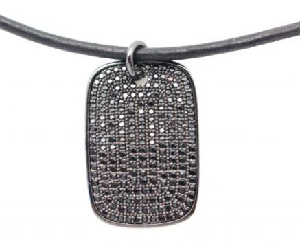 Karli Buxton Black Dog Tag Choker