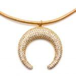 Karli Buxton Crescent Gold Choker