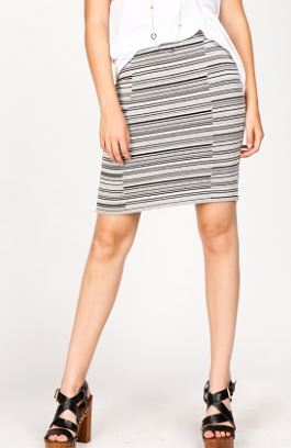 MRena Broken Stripe Pencil Skirt