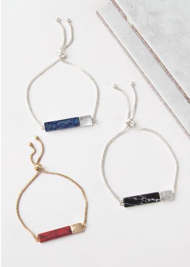Noelle- Block Slider Bracelet