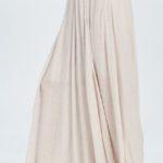 Flowy Champagne Long Skirt