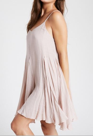 Low Back Sleeveless Dress in Blush