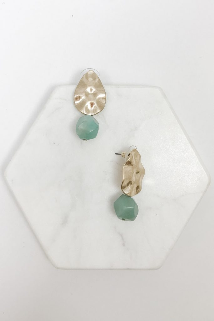 Regan Earrings in Green