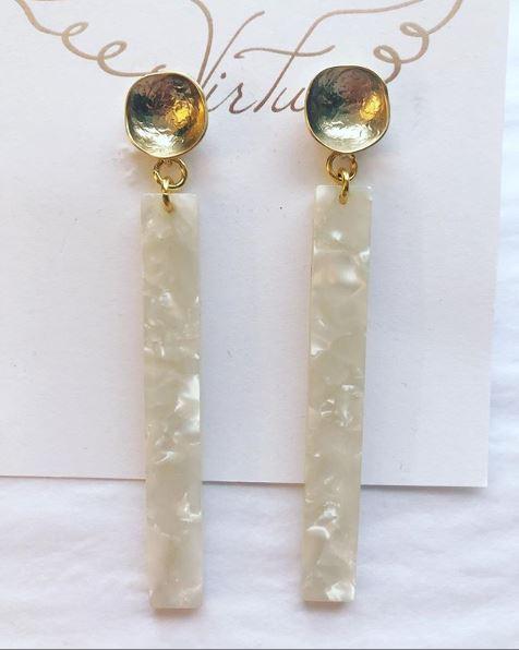 Acrylic Earrings in White