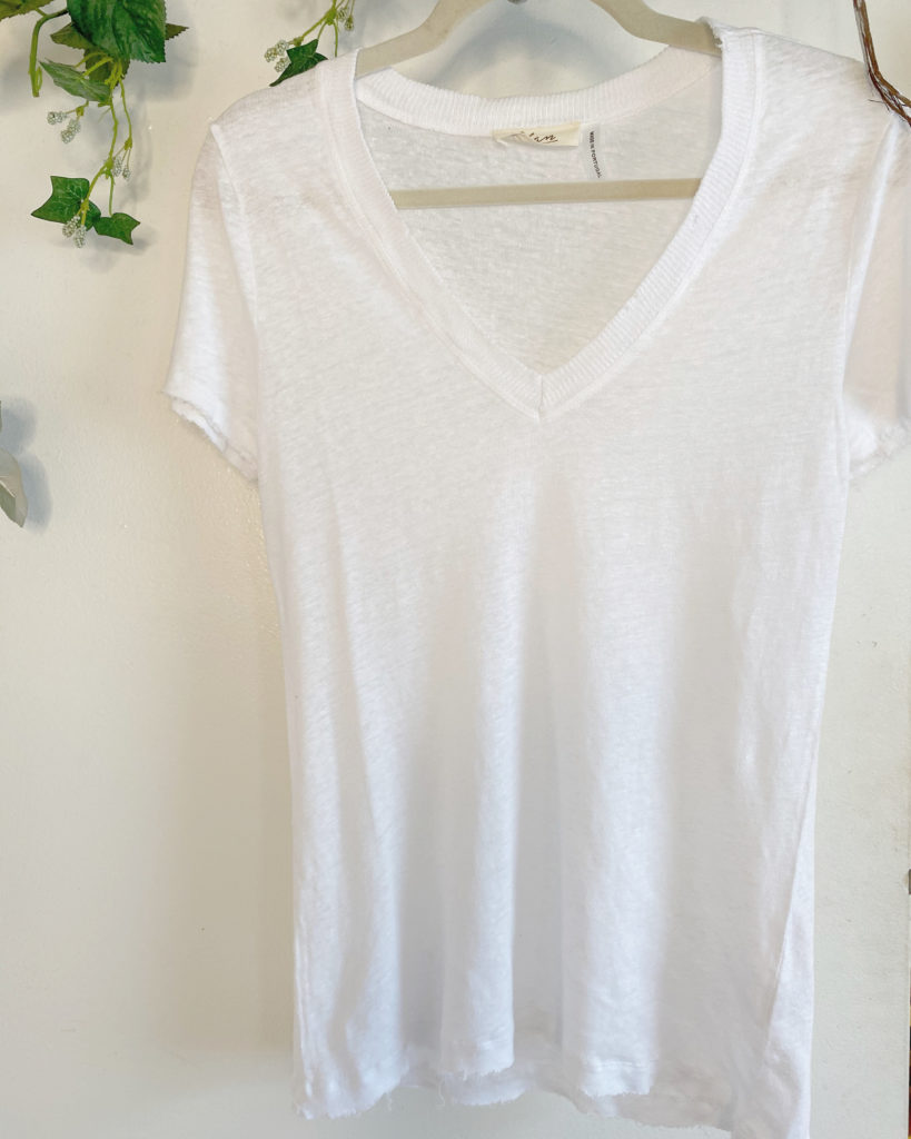 Distressed White Shortsleeve Tee