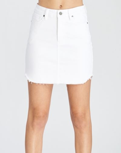 Wishlist White Denim Skirt