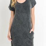 monob Mineral Wash Ruffled Dress