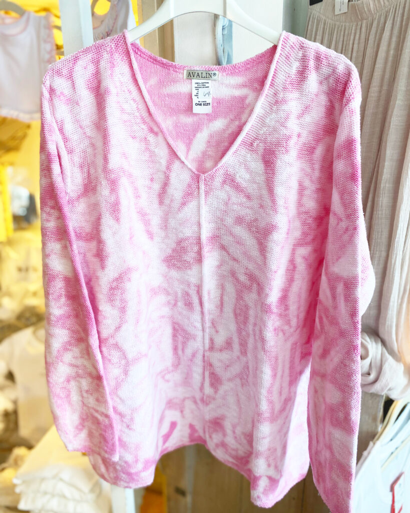 Avalin Pink TieDye Sweater