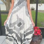 Dana in Oro Sleeveless Tie Dye Dress 4