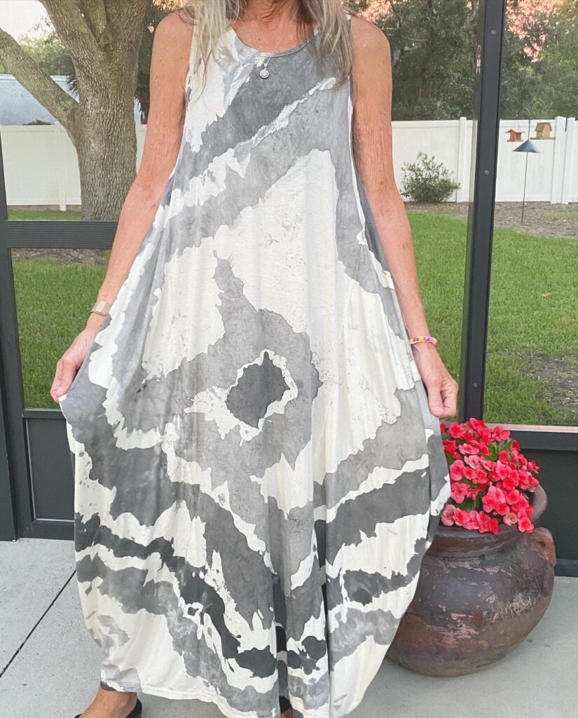 Dana in Oro Sleeveless Tie Dye Dress 4