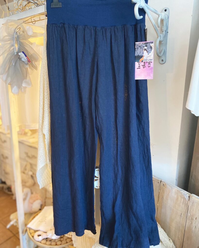 Oro Pants with slit Navy