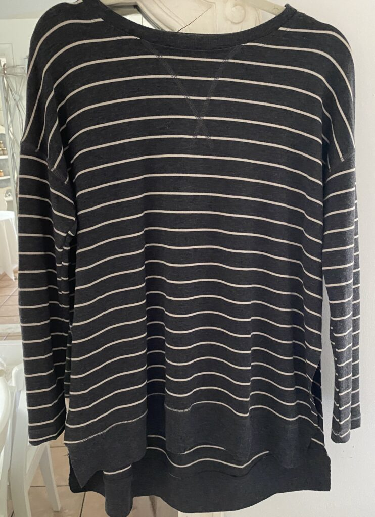 Sinuous French Terry Stripe Front