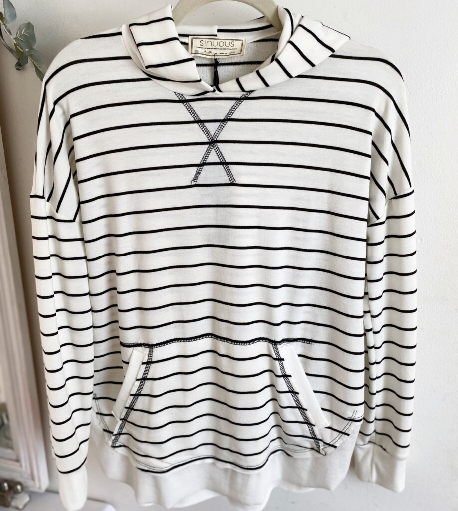 Sinuous French Terry Stripe with Hoodie