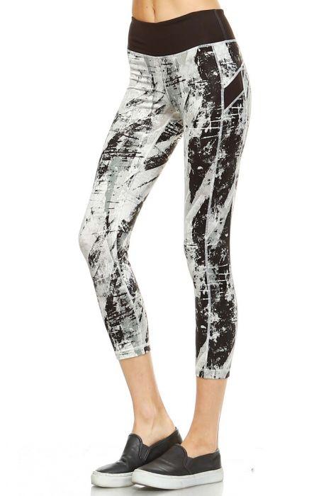 monob splatter print capri leggings