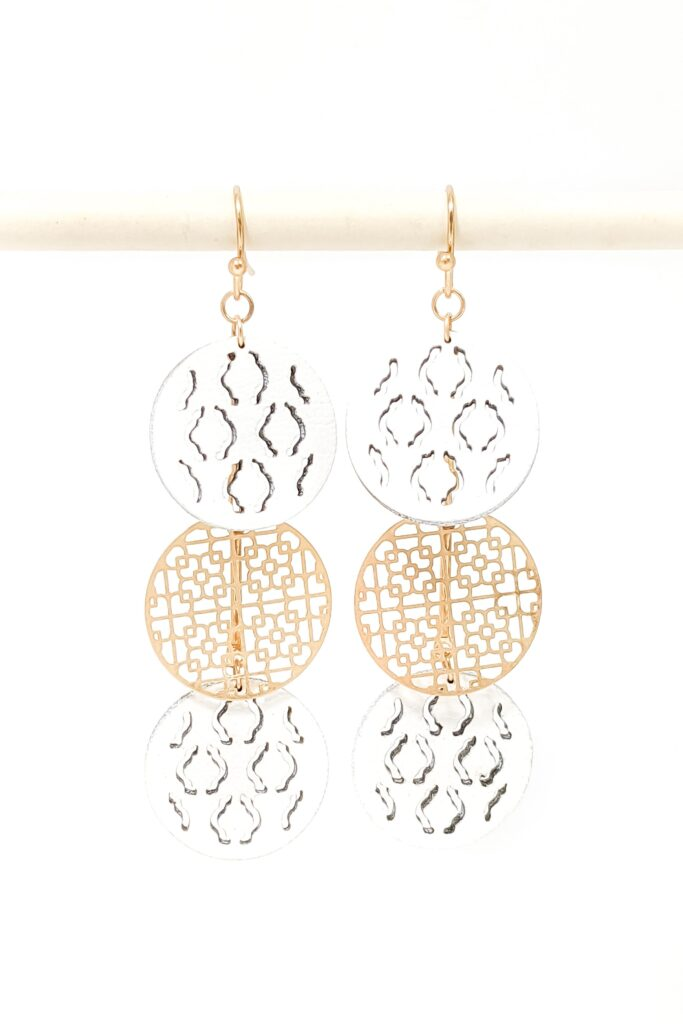 mygirlinla Mirabelle Earrings in gold and silver