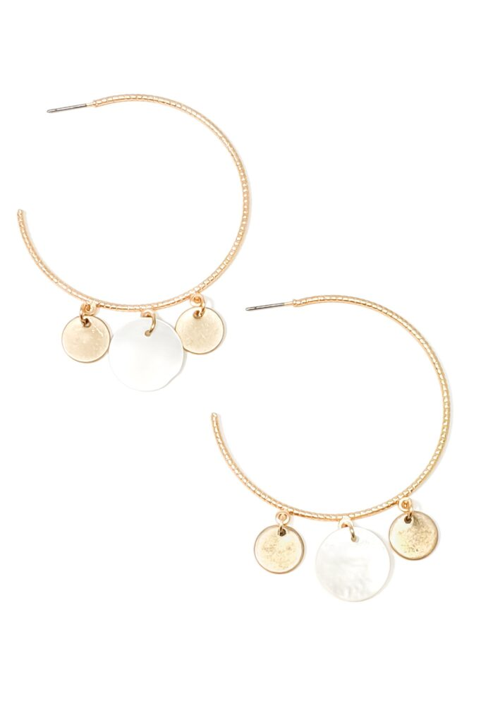 mygirlinla salome earrings in white and gold
