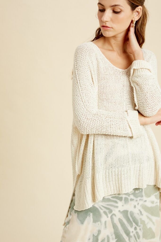 wishlist knit sweater in cream