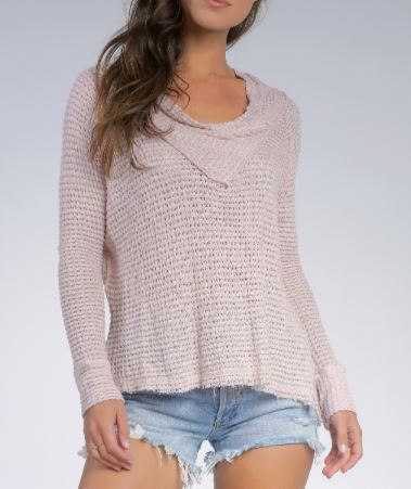 Elan Blush Top Off Shoulder Front