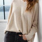 Elan Sweater Pullover w Rose Gold Specks