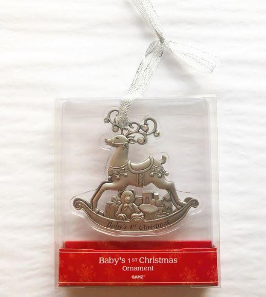 Ganz babys 1st xmas ornament
