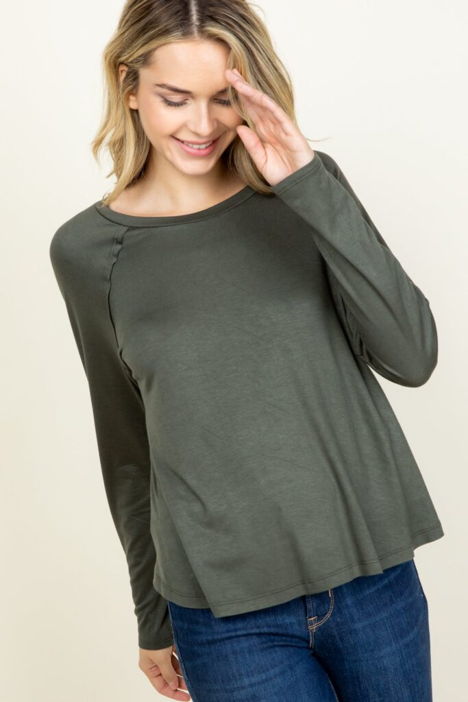 Youngatheart Lisa Top in Grey