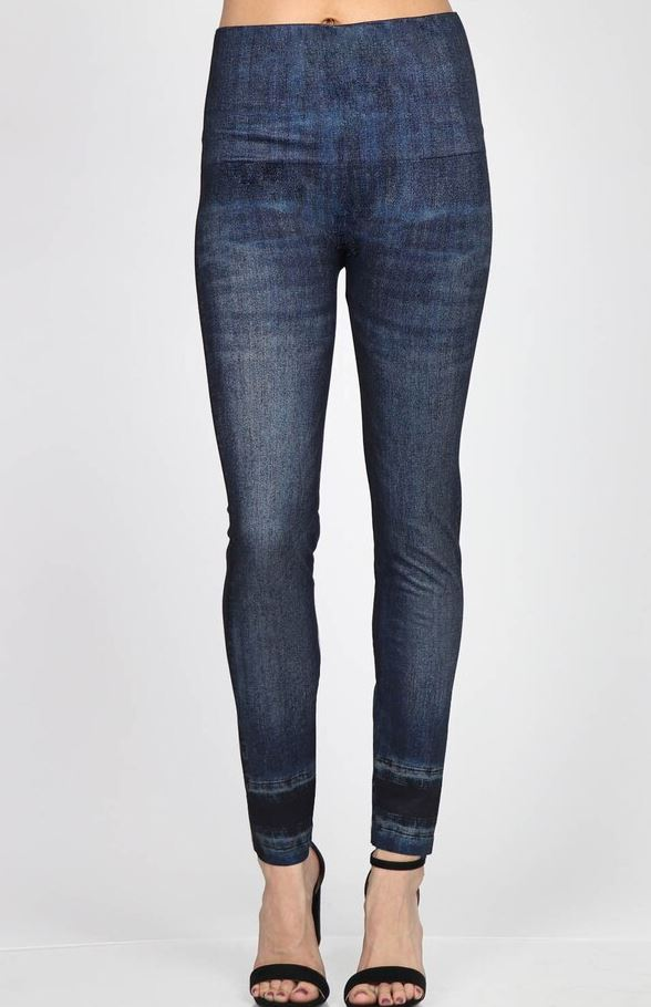 mrena indigo jean leggings