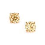 mygirlinla Natasha Glitter Gold Earrings
