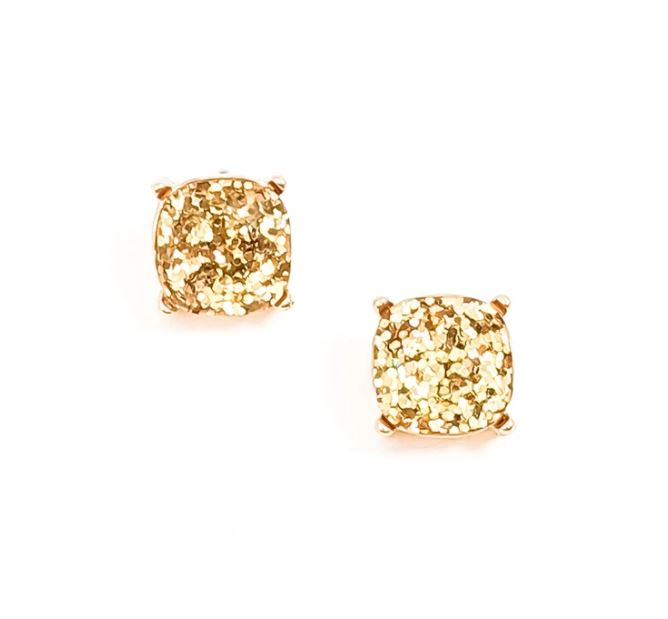 mygirlinla Natasha Glitter Gold Earrings