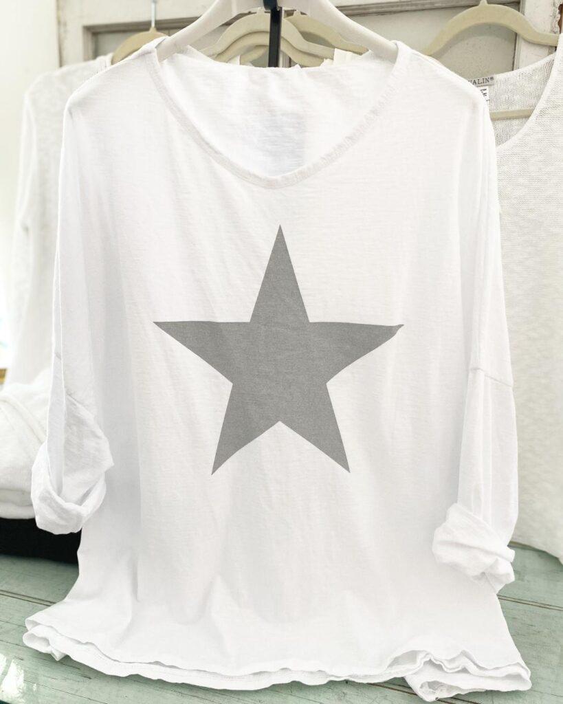 Oro White Shirt with Star