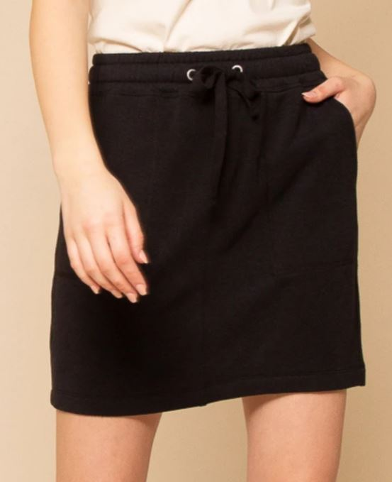 Thread and Supply Red Herring Skirt Black front