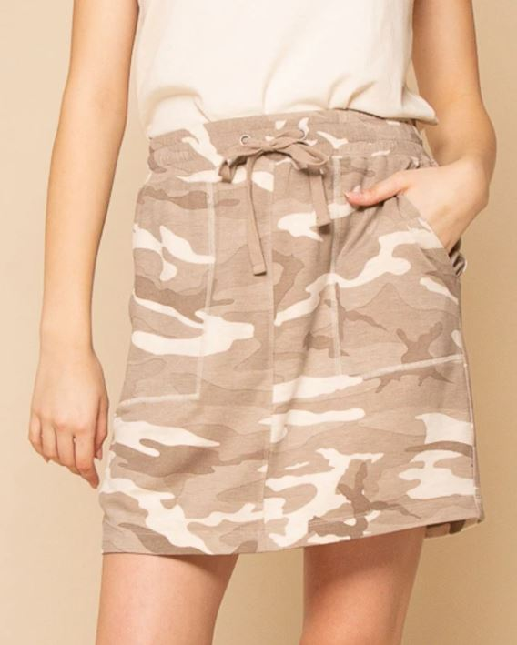 Thread and Supply Red Herring Skirt Taupe Camo front