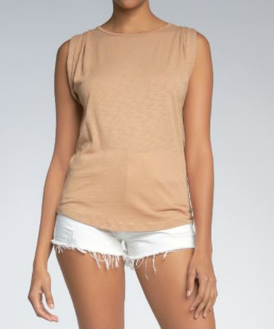 elan muscle top in camel front