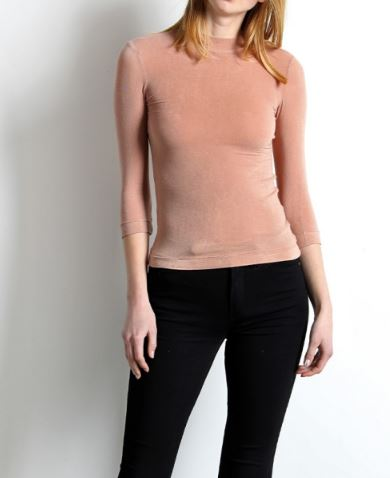 mod ref zinnia top in blush front