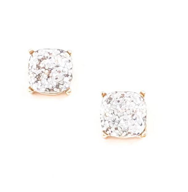 mygirlinla Natasha Glitter Silver Earrings
